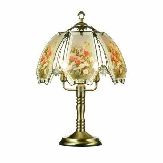 OK Lighting OK632ABHC9SP3 23.5 Inch Height Touch Lamp with Hummingbird Theme, Antique Bronze   Table Lamps