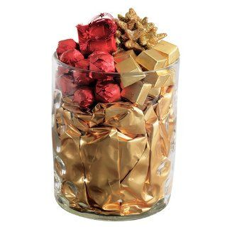 Happy Wishes Red & Gold Decorated Chocolate Arrangement in Modern Vase Design  Gourmet Chocolate Gifts  Grocery & Gourmet Food
