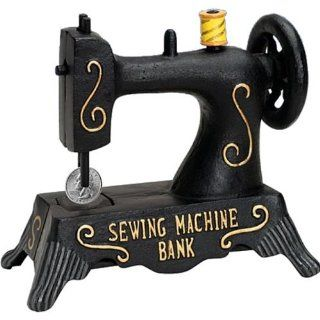 Bits and Pieces Sewing Machine Bank Toys & Games