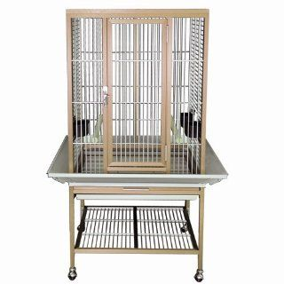 KINGS CAGES FLAT TOP ALUMINUM PARROT CAGE ACF 2522 bird toy toys african grey  eclectus (BLUE, FLAT TOP)  Birdcages