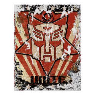 Unite   Autobot Symbol Poster