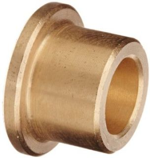Bunting Bearings CFM008012010 Sleeve (Flanged) Bearings, Cast Bronze C93200 (SAE 660), 08mm Bore x 12mm OD x 10mm Length   16mm Flange OD x 2mm Flange Thk (Pack of 5) Flanged Sleeve Bearings Industrial & Scientific
