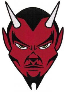 Red Devil Embroidered Patch Satanic Evil 666 Lucifer Satan Iron on Emblem Large Clothing