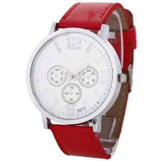 Chinadiscountstore Unisex Boys Girls Dial Sport Analog Quartz Wrist Watch Red: Watches