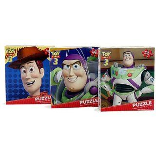 Toy Story 3 Puzzles [3 Puzzle Pack   100 Pieces Each] Toys & Games