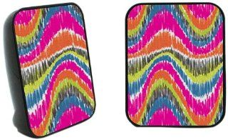Yak Pak Twins 2.0 Speaker System   Multi Wave Ikat (SP57957 669) : MP3 Players & Accessories