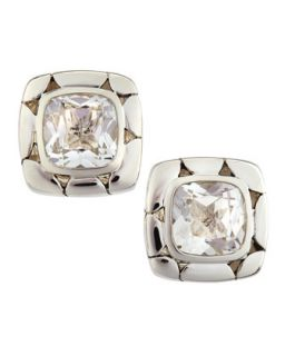 Kali Batu White Topaz Square Earrings