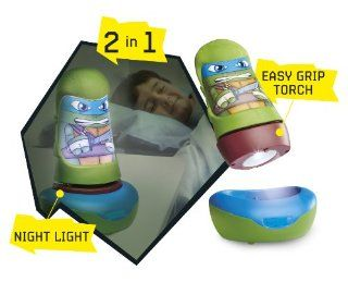 Teenage Mutant Ninja Turtles Childrens Kids Go Glow Night Light Torch 2 in one   Electronic Learning Aids