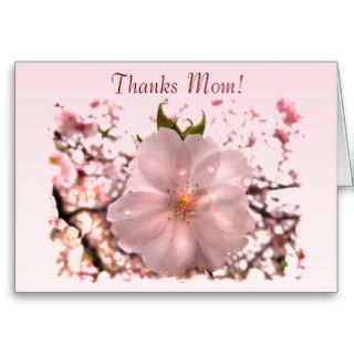 Cherry Blossom Mother's Day Greeting Cards