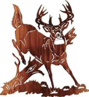Jumping Buck Deer Metal Wall Art   Wall Sculptures