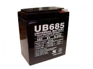 Compatible ELGAR / AMETEK UPS Sealed Lead Acid Battery, Replaces Part Number UB685 ER. Fits Models: ELGAR / AMETEK TBRC1, TBRC2, TBRC3, 713523, 713511, CA1, CA2, 10000010135, 100 001 0074, 100 001 0073, 205A73A2, 73, 78, CI2, DG6 8, Dual.Lite 12 234, Dual.