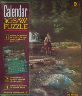 Buffalo Calendar Jigsaw Puzzle Fly Fishing 680 Piece Puzzle Toys & Games