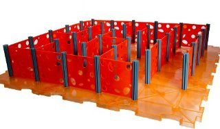 Rat Maze for Rats, Hamsters, Mice and Other Small Critters in Orange : Small Animal Houses : Pet Supplies