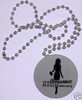 Coors Light Maxim Mardi Gras Bead Necklace Beer Bar