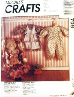 "McCall's Crafts Pattern 709 ~ Sara Stitches 24"" Rag Hair Doll with Clothes and Baby Doll"
