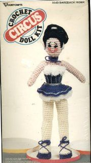 Vogart Crafts Circus Crochet Doll Kit   Circus Themed Bareback Horse Rider 15 1/2 Inches High #3143