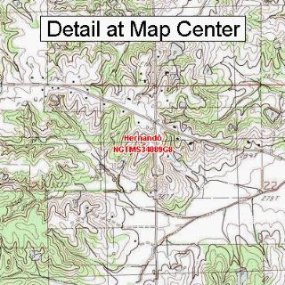 USGS Topographic Quadrangle Map   Hernando, Mississippi (Folded/Waterproof)  Outdoor Recreation Topographic Maps  Sports & Outdoors