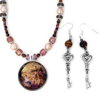 Lenore Raven Poe Graveyard Dark Art Handmade Jewelry Set Earrings Necklace: Pendant Necklaces: Jewelry