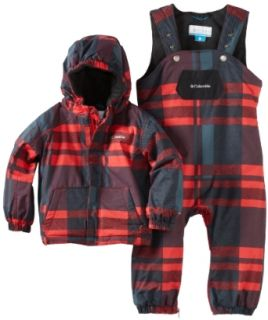 Columbia Boys 2 7 First Snow Set, Bright Red Plaid, 2T: Clothing
