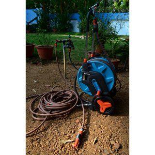 Gardena 8001 U 196 Foot by 1/2 Inch Hose Capacity Garden Hose Cart with 65 Foot Hose  Patio, Lawn & Garden