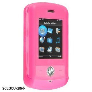 Pink Silicone Skin Cover Case Phone Protector for LG SHINE CU 720 CU720: Cell Phones & Accessories