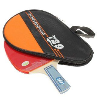 729 Table Tennis Racket Ping Pong Paddle Long Handle + Waterproof Case Bag Pouch : Sports & Outdoors