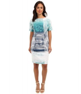 Adrianna Papell S/S Cotton Sheath Dress Womens Dress (Multi)