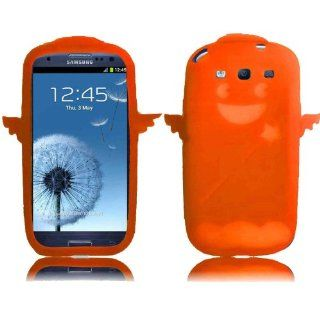 Orange Angel Silicone Jelly Skin Case Cover fo SAMSUNG GALAXY S3 S III i747 (ATT) / i535 (Verizon)/ T999 (T mobile) / L710 (Sprint) / i9300: Cell Phones & Accessories