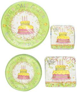 Ideal Home Range Celebration Plates and Napkins Package, Birthday Cake Design: Health & Personal Care