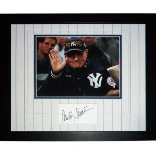 """Rudy Giuliani Autographed New York Yankees (NYPD FD Hat) """"Signature Series"""" Frame at 's Sports Collectibles Store"""