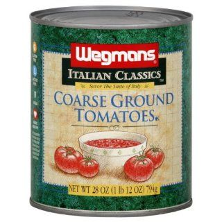 Wgmns Italian Classics Tomatoes, Coarse Ground, 28 Oz ( Pak of 4 ) : Fresh Tomatoes Produce : Grocery & Gourmet Food