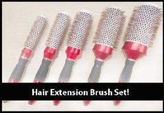 "2.0"" Round titanium Hair Extension brush By SOBE Organics: Health & Personal Care"