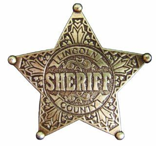 Denix Old West Era 2.5 Inch Lincoln County Sheriff Replica Badge : Sports & Outdoors