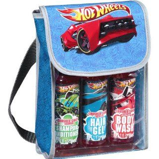 Hot Wheels Crushed Candy Scented Travel Bath Gift Set, 3 pc   Hair Gel * Body Wash * Shampoo & Conditioner * Hot Wheels Travel Bag : Beauty