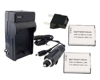 ExcelShots LI 50B Charger Kit, Battery Charger + DC/Car Charger for Olympus SP 810UZ, SZ 12, TG 820 iHS, Stylus Tough 8010, SZ 10, XZ 1, SP 800UZ, Tough 6000, VR 340, VH 515 Cameras, Etc, & for Olympus LI 50B. : Digital Camera Accessory Kits : Camera &