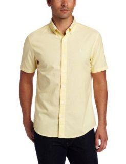 Original Penguin Men's Oxford Heritage Fit Woven Shirt, Sunshine, Small at  Men�s Clothing store