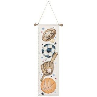 Personalized Sports Hand painted Growth Chart  Nursery Decor Products  Baby