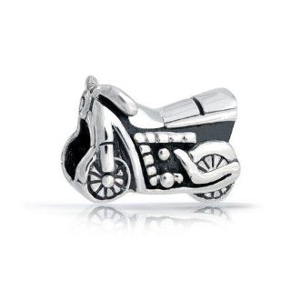 Bling Jewelry Antiqued Sterling Silver Motorcycle Charm Bead Pandora Compatible Jewelry