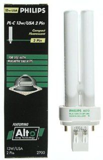 PHILIPS 383109 13 Watts Pin Base PL C ALTO 13W/827 /2P 1CT GX23 2 Case Of 10 Light Bulb   Fluorescent Lamps