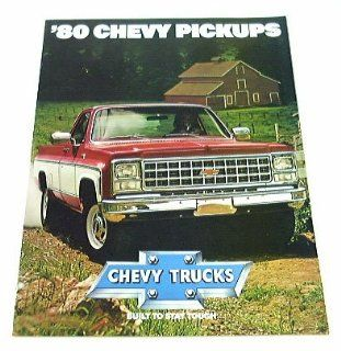 1980 80 Chevrolet CHEVY PICKUP Truck BROCHURE C10 K20  Other Products