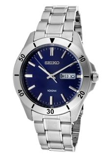 Seiko SGGA77  Watches,Mens Blue Dial Stainless Steel, Casual Seiko Quartz Watches
