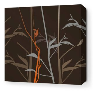 Inhabit Morning Glory Tall Grass Stretched Graphic Art on Canvas in Charcoal
