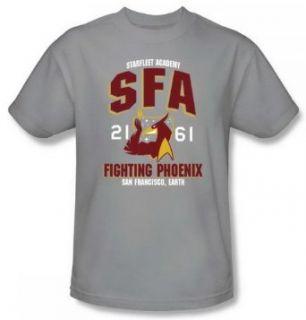 Star Trek SFA Fighting Phoenix Silver Adult Shirt CBS866 AT Clothing