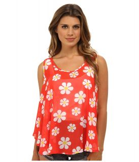 Gabriella Rocha Daisy Flower Tank Top Womens Sleeveless (Red)
