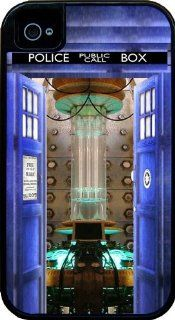 iPhone 4 Tough Case Black, Tardis Doctor Who Open Door Design Cover/Case, Apple iPhone 4s Tough Cover Black, by Sublifascination USA 43: Cell Phones & Accessories