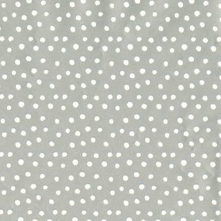 Entertaining with Caspari Continuous Gift Wrapping Paper, Small Dots, Silver, 8 Feet, 1 Roll