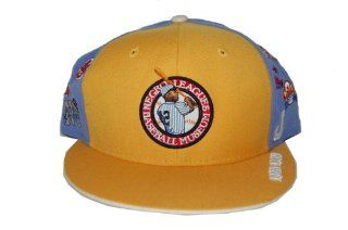 All Teams Negro Leagues Baseball Museum Official Fitted Wool Hat   Yellow Lt Blue (Size 7 1/2) : Sports & Outdoors