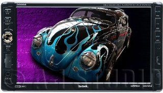 SSL DD888 In Dash Single DIN 7 inch Motorized Detachable Touchscreen DVD/CD/USB/SD/MP4/ Player Receiver with Remote  Vehicle Cd Storage Visors