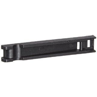 """Panduit FCPI2 C20 Flat Cable Mounting System Plate, Nylon 6.6, Cable Ties Mounting Method, Black, 2.04"""" Max Flat Cable Width, 0.2"""" Height, 0.38"""" Width, 2.31"""" Length (Pack of 100) Industrial & Scientific"""