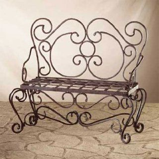 "Wrought Iron ""Garden Bench"" Plant Stand   Aspen Country Store"